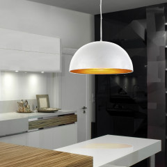 AZzardo Modena 40 White/Gold - Pendant - AZZardo-lighting.co.uk