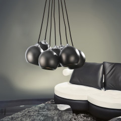 AZzardo Gulia 7 Black - Pendant - AZZardo-lighting.co.uk