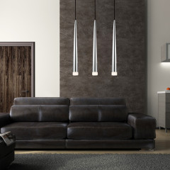 AZzardo Stylo 3 Chrome - Pendant - AZZardo-lighting.co.uk