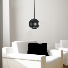 AZzardo Gulia 1 Black - Pendant - AZZardo-lighting.co.uk