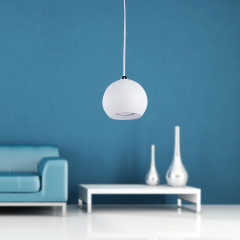 AZzardo Gulia 1 White - Pendant - AZZardo-lighting.co.uk