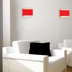 AZzardo Pancake Red - Wall lights - AZZardo-lighting.co.uk