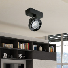AZzardo Jerry 1 Black LED - Ceiling - AZZardo-lighting.co.uk