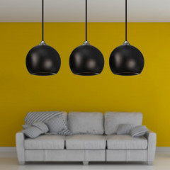 AZzardo Gulia 3 Black - Pendant - AZZardo-lighting.co.uk