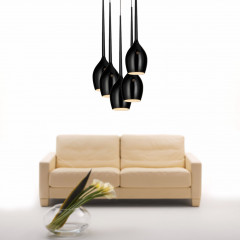 AZzardo Izza 5 Black - Pendant - AZZardo-lighting.co.uk