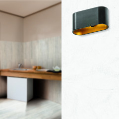 AZzardo Vega Black/Gold - Wall lights - AZZardo-lighting.co.uk