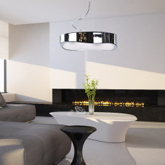 AZzardo Grasso Chrome - Pendant - AZZardo-lighting.co.uk