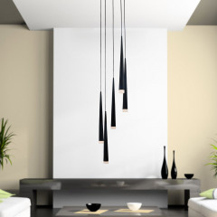 AZzardo Stylo 5 Black - Pendant - AZZardo-lighting.co.uk
