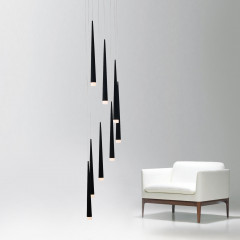 AZzardo Stylo 8 Black - Pendant - AZZardo-lighting.co.uk
