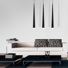 AZzardo Stylo 3 Black - Pendant - AZZardo-lighting.co.uk