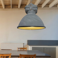 AZzardo Bismarck Grey + Glass - Pendant