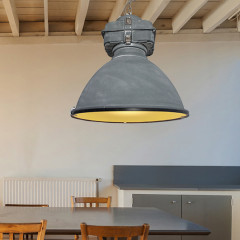 AZzardo Bismarck Grey + Glass - Pendant - AZZardo-lighting.co.uk