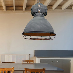 AZzardo Bismarck Grey + Grill - Pendant - AZZardo-lighting.co.uk
