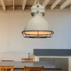 AZzardo Bismarck White patina + Grill - Pendant - AZZardo-lighting.co.uk