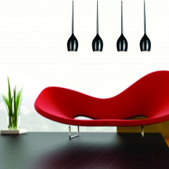 AZzardo Izza 4 Black - Pendant - AZZardo-lighting.co.uk