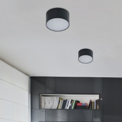 AZzardo Monza R 12 3000K Black - Technical surface mounted - AZZardo-lighting.co.uk