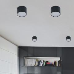AZzardo Monza R 8 3000K Black - Technical surface mounted - AZZardo-lighting.co.uk