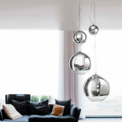 AZzardo Silver Ball Four - Pendant - AZZardo-lighting.co.uk