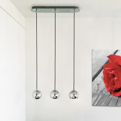 AZzardo Gulia 3 Chrome - Pendant - AZZardo-lighting.co.uk