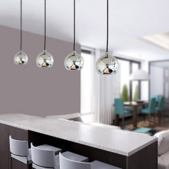 AZzardo Gulia 1 Chrome - Pendant - AZZardo-lighting.co.uk