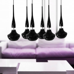 AZzardo Tasos 6 Black Edition - Pendant - AZZardo-lighting.co.uk