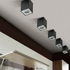 AZzardo Eloy 1 Black/Alu - Ceiling - AZZardo-lighting.co.uk