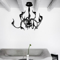 AZzardo Snake Top Black - Ceiling - AZZardo-lighting.co.uk